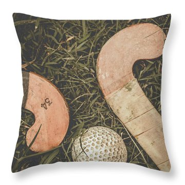 Throw Pillow featuring the photograph Vintage Hockey by Jorgo Photography - Wall Art Gallery