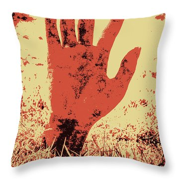 Vintage Horror Poster Art  Throw Pillow