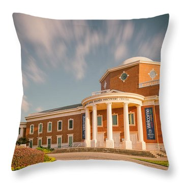 Vintage Image Of The Mayborn Museum Complex At Baylor University - Waco Central Texas Throw Pillow