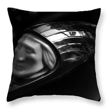 Vintage Indian Chief Head Throw Pillow by David Lee Thompson