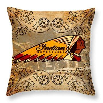 Vintage Indian Throw Pillow