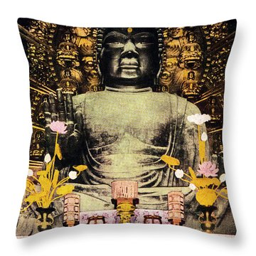 Vintage Japanese Art 24 Throw Pillow by Hawaiian Legacy Archive - Printscapes