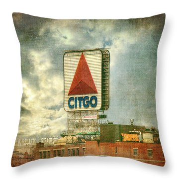 Vintage Kenmore Square Citgo Sign - Boston Red Sox Throw Pillow