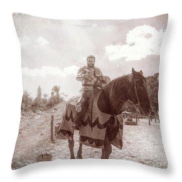 Vintage Knight Throw Pillow