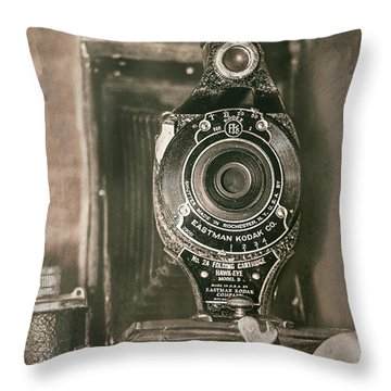 Vintage Kodak Camera Throw Pillow