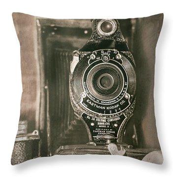 Vintage Kodak Camera Throw Pillow