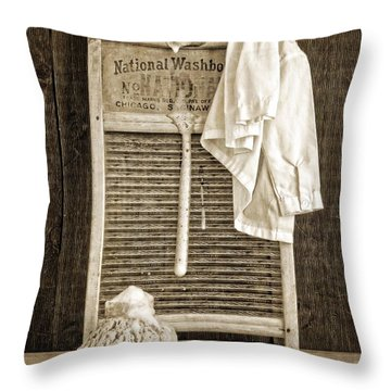 Vintage Laundry Room Throw Pillow