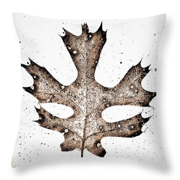 Vintage Leaf Throw Pillow