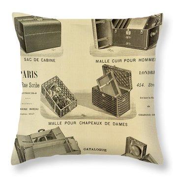 Vintage Louis Vuitton Advertisement - 1898 Throw Pillow