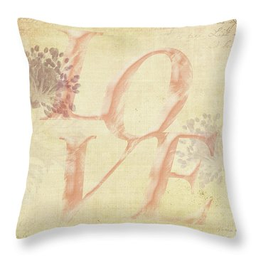 Vintage Love Throw Pillow by Caitlyn Grasso