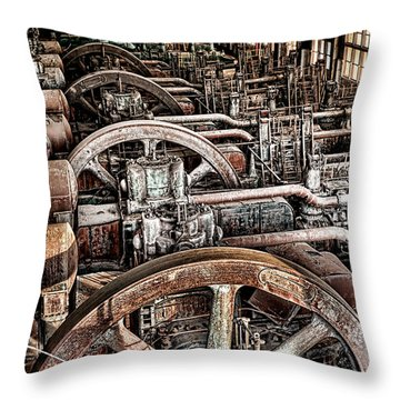 Vintage Machinery Throw Pillow