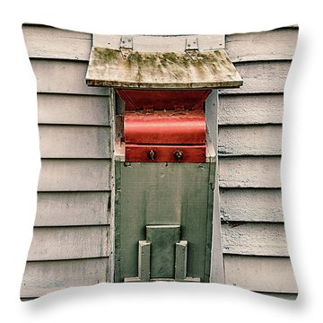 Throw Pillow featuring the photograph Vintage Mailbox by Gary Slawsky