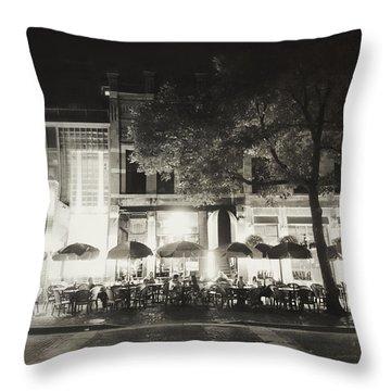 Vintage Main Street Minneapolis Throw Pillow