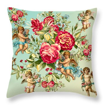 Vintage  Throw Pillow by Mark Ashkenazi