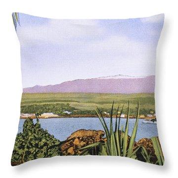 Vintage Mauna Kea Throw Pillow by Hawaiian Legacy Archive - Printscapes
