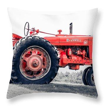 Vintage Mccormick Farmall Tractor Throw Pillow