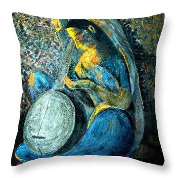 Vintage - Meera - Singing For Krishna Throw Pillow