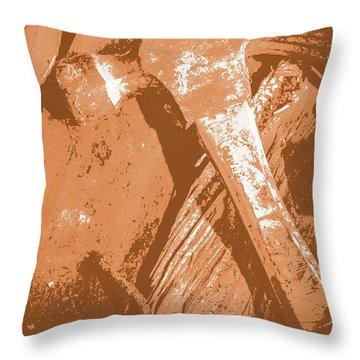 Vintage Miners Hammer Artwork Throw Pillow