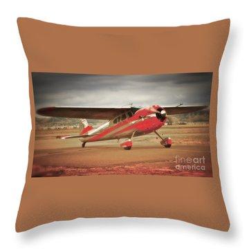 Vintage Monoplane Throw Pillow
