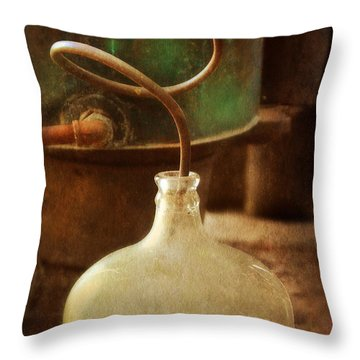 Vintage Moonshine Still Throw Pillow