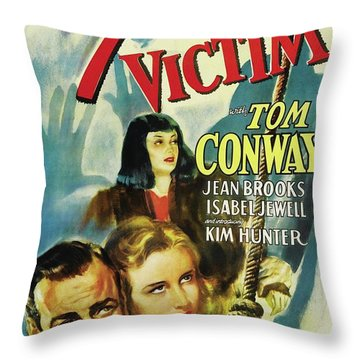 Vintage Movie Posters, The 7th Victim Throw Pillow
