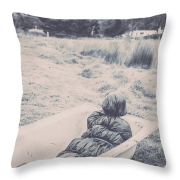 Vintage Murders Throw Pillow
