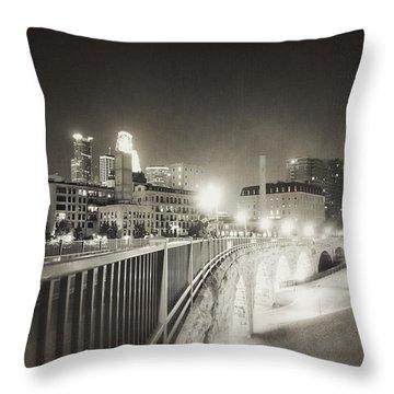 Vintage Night Lights Throw Pillow