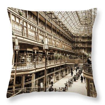 Vintage Old Arcade Throw Pillow
