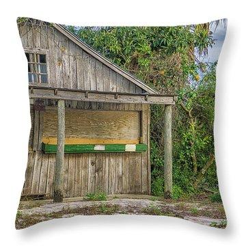 Vintage Orange Stand Throw Pillow