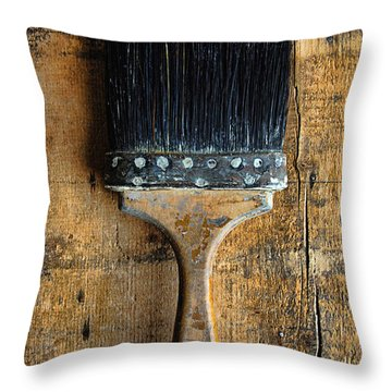Vintage Paint Brush Throw Pillow