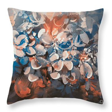 Vintage Petal Throw Pillow