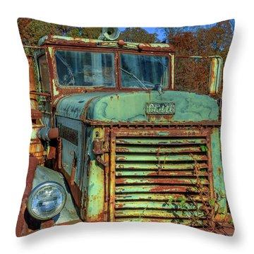 Vintage Peterbilt Truck Throw Pillow