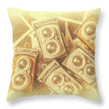 Vintage Photographer Film Art Throw Pillow