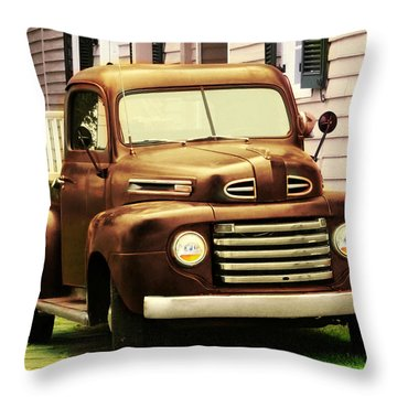 Vintage Pick Up Truck Throw Pillow