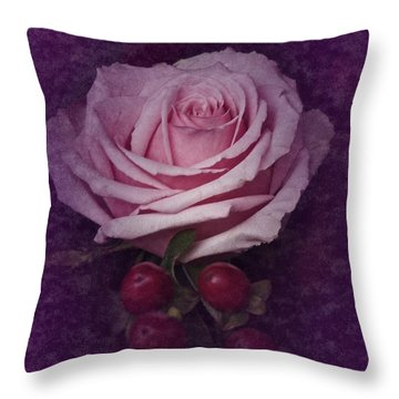 Throw Pillow featuring the photograph Vintage Pink Rose Feb 2017 by Richard Cummings