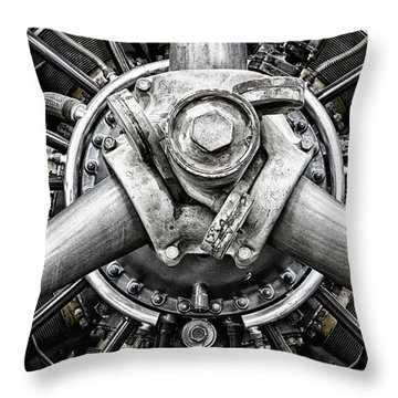 Throw Pillow featuring the photograph Vintage Plane Prop by Bryan Keil