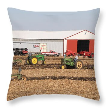 Vintage Plowing In Griswold Iowa Throw Pillow
