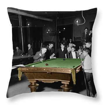 Vintage Pool Hall Throw Pillow