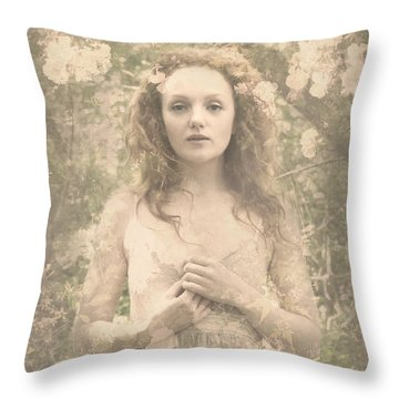 Vintage Portrait Throw Pillow