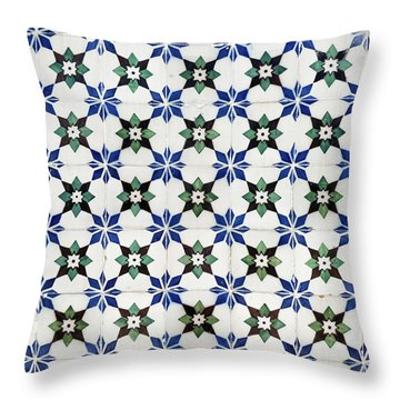 Vintage Portuguese Tiles Throw Pillow