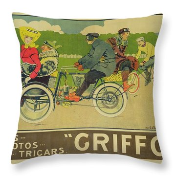 Vintage Poster Bicycle Advertisement Throw Pillow by Walter Thor