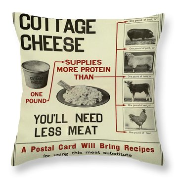 Vintage Poster - Cottage Cheese Throw Pillow