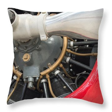 Vintage Prop And Radial Engine IIi Throw Pillow
