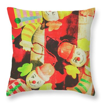 Throw Pillow featuring the photograph Vintage Pull String Puppets by Jorgo Photography - Wall Art Gallery