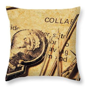 Vintage Quick Stitch Throw Pillow