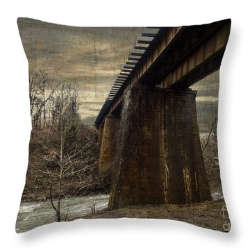 Vintage Railroad Trestle Throw Pillow