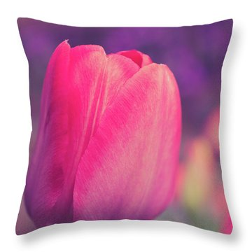 Throw Pillow featuring the photograph Vintage Red Tulip Flower by Edward Fielding