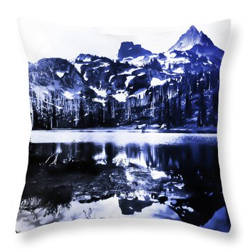 Vintage Reflection Lake  With Ripples Early 1900 Era... Throw Pillow