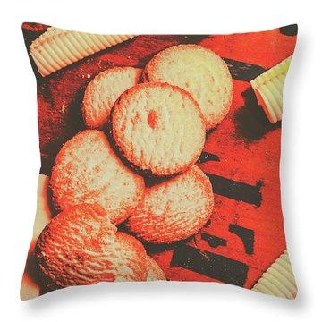 Vintage Rich Butter Shortcake Cookies Throw Pillow