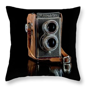 Vintage Ricohflex Camera Throw Pillow